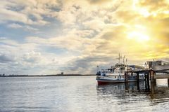 Dawn on the Volga Royalty Free Stock Images