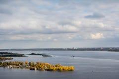 Dawn on the Volga Stock Image