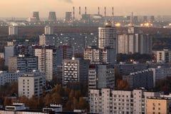 Dawn in Vykhino stock fotografie