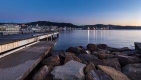 Dawn Wellington Harbor Stock Photography