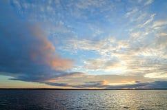Dawn by the White sea Royalty Free Stock Photos