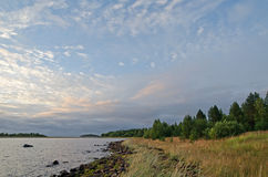 Dawn by the White sea Stock Photo