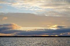 Dawn by the White sea Stock Photos