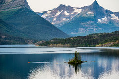 Dawn At Wild Goose Island au Montana Photo stock