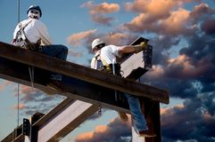 Dawn Workers Royalty Free Stock Photo