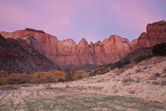 Dawn in Zion Royalty Free Stock Photos