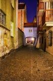 Dawna Street a Varsavia Città Vecchia alla notte Fotografia Stock