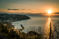 Dawning in Bordighera, Italy. Most beautiful Dawning in Bordighera, Italy royalty free stock photo