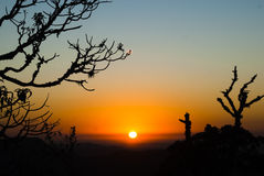 Dawning in Brazil Royalty Free Stock Photo