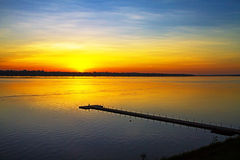 Dawning sunrise Stock Image
