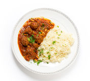 Dawood-basha Araberfleischklöschen Stockfotografie