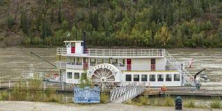 Dawson Canada. Old boat in Dawson city, Yukon Canada stock images