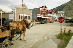 Dawson City. Horse buggy in Dawson City, Yukon, Canada stock photo