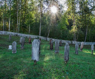 Dawson city cemetery. A historic cemetery from the early days of Dawson city, Yukon Royalty Free Stock Photography