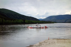 The dawson city ferry in the yukon territories Royalty Free Stock Images