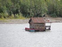 Floating Cabin — Dawson City, Yukon, Canada stock photo
