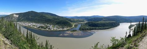 Dawson City, le Yukon Photos stock