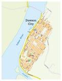 Dawson city map Stock Image