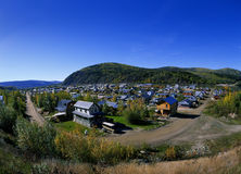 Dawson City. SEPT.1: Famous city from Gold Rush era Stock Images