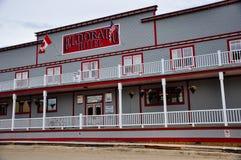 The Eldorado Hotel of Dawson City, Yukon. Dawson City, Yukon is the heart of the world-famous Klondike Gold Rush stock photography