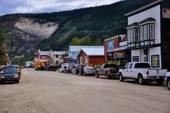 The streets of Dawson City, Yukon. Dawson City, Yukon is the heart of the world-famous Klondike Gold Rush royalty free stock photos
