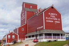 Dawson Creek, Britisch-Columbia, Kanada-Aufzüge lizenzfreie stockbilder