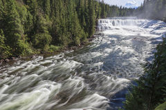 Dawson falls. In Clearwater Canada Royalty Free Stock Photos