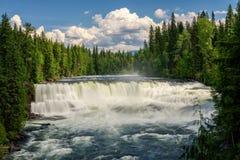 Dawson Falls en el río de Murtle en Canadá Fotografía de archivo