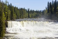 Dawson Falls Wells Gray Provincial Park. Dawson Falls is one of seven waterfalls on the Murtle River in Wells Gray Provincial Park, British Columbia, Canada Stock Photography
