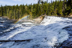 Dawson Falls, Wells Gray Provincial Park, BC, Canada. Dawson Falls is one of seven waterfalls on the Murtle River in Wells Gray Provincial Park, British Columbia Stock Photography