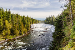 Dawson Falls, Wells Gray Provincial Park, BC, Canada. Dawson Falls is one of seven waterfalls on the Murtle River in Wells Gray Provincial Park, British Columbia royalty free stock images