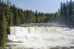 Dawson Falls Wells Gray Provincial Park. Dawson Falls is one of seven waterfalls on the Murtle River in Wells Gray Provincial Park, British Columbia, Canada Royalty Free Stock Images