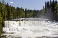 Dawson Falls Wells Gray Provincial Park. Dawson Falls is one of seven waterfalls on the Murtle River in Wells Gray Provincial Park, British Columbia, Canada Royalty Free Stock Image