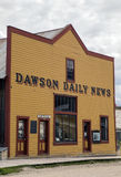 Dawson Daily News. The Dawson Daily News functioned as a regular publication from 1899 through 1954.  Its style is representative of the prevailing architecture Royalty Free Stock Photos