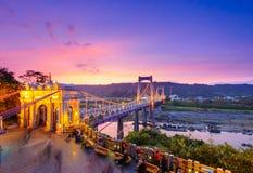Daxi suspension bridge in taoyuan Royalty Free Stock Images
