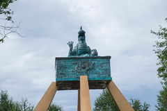 Daxinganling Mohe Arctic Village Arctic sandbar golden crown bronze sculpture Royalty Free Stock Photography