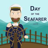 Day of the Seafarer, 25 June. Royalty Free Stock Image