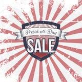 Day与文本的Sale Label和丝带总统 图库摄影