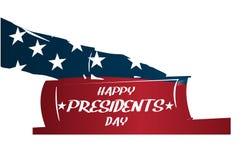Day总统例证 总统由圣经发誓 手剪影在圣经的 免版税库存图片