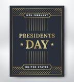 Day总统卡片 库存照片