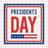 Day总统卡片 图库摄影