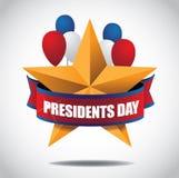 Day总统星和气球象 库存照片