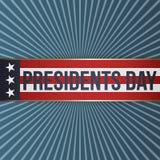 Day总统现实传染媒介爱国标签 库存图片