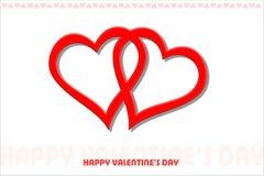 Day#2 de la tarjeta del día de San Valentín feliz Fotografía de archivo