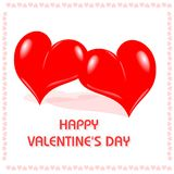 Day#3 van de gelukkige Valentijnskaart Stock Foto's
