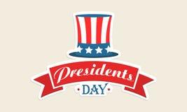 Καπέλο χρώματος αμερικανικών σημαιών για τον εορτασμό Προέδρων Day Στοκ Εικόνες