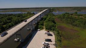 Day Aerial Establishing Shot of Topsail Island Bridge