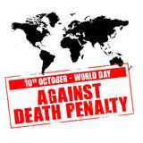 Day against death penalty Royalty Free Stock Photography