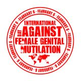 Day against female genital mutilation Royalty Free Stock Photography