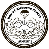 Day of Airborne Forces. August 2nd. Vector illustration Stock Images